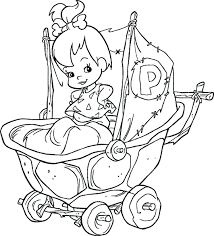 pebbles bam coloring pages bamm free printable bunny kids