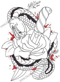 snake roses and dagger tattoo designs photos pictures and