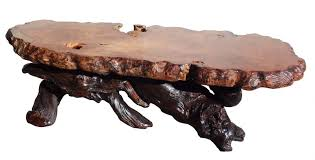 Redwood Coffee Table Custom Design Redwood Burl Coffee Table Stohans Showcase