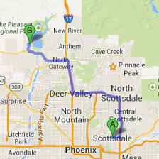 lake pleasant map lake pleasant a trip from scottsdale kevin brent