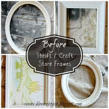4 thrifted frames 1 easy distress technique bless u0027er house