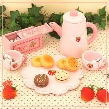 jeux aux fraises cuisine bébé jeux de simulation set de thé noir mère jardin fraises jouets