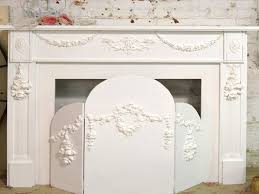 shabby chic fireplace mantel shabby chic painted fireplace screen