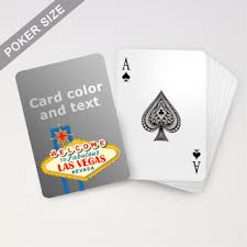 personalized las vegas sign playing cards