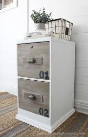Chalk Paint On Metal Filing Cabinet 12 Fabulous Filing Cabinet Makeovers The Budget Decorator