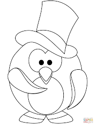 penguins coloring pages line drawings 6502