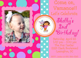 2nd Birthday Invitation Card Dora Birthday Invitations U2013 Frenchkitten Net