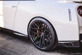 white nissan 2017 white nissan gtr brixton forged wheels