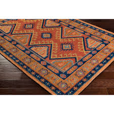 arabia nadine orange rectangular 2 ft x 3 ft rug artistic