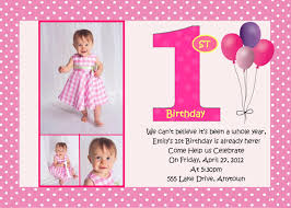 Sample Of 1st Birthday Invitation Card First Birthday Pink Birthday Invitation 3 Designs To Choose