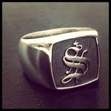 mens monogram ring pin by peut porter on signet ring