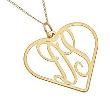 monogram gold necklace two letter heart monogram necklace gold gold