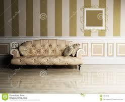 Interior Design Scene With A Classic Sofa Royalty Free Stock - Classic sofa design