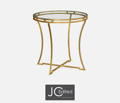 jonathan charles round side table gold iron pavilion broadway