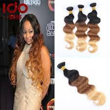 Black To Brown Ombre Hair Extensions by Ombre 3 Tone 1b 33 27 Natural Black Brown Honey Blonde Cheap