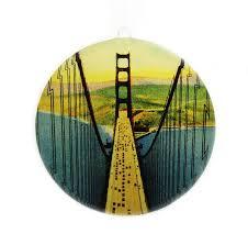 window ornament golden gate bridge vintage