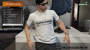 Spreadsheet T Shirts Would Somebody List All The Special Hat And Tops Please Gta