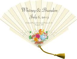 personalized wedding fans wedding programs wedding program fans fanprinter your