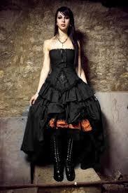 Vintage Vampire Cross Corset Black Gothic Wedding Dresses New