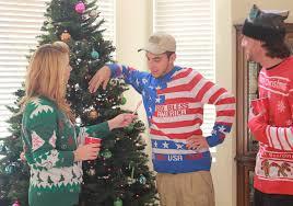 police gear american flag christmas sweater