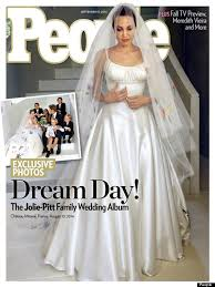 angelina jolie u0027s wedding dress revealed on the cover of people
