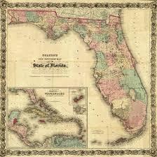 Washington Township Map In Eau by Florida Memory Colton U0027s Florida 1873