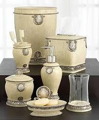 Silver Bathroom Accessories Sets Lux Damask 4 Piece Bath Accessory Set Antique Silver Copper
