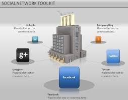 media powerpoint presentation animated social network powerpoint