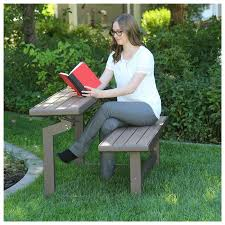 Lifetime Patio Furniture by Lifetime Convertible Patio Bench To Table Mocha Brown 60139