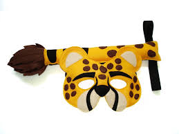 children u0027s safari animal cheetah felt mask and dress up eco
