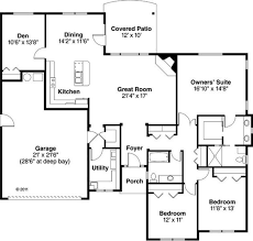 One Story Ranch House Plans by Modren One Story House Plans Single Intended Inspiration Decorating