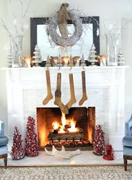 fake fireplace logs with candles faux mantel decoration wooden