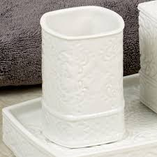 Damask Bathroom Accessories Damask Ivory Porcelain Bath Accessories
