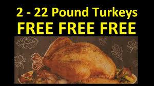 how to get 2 free 22 pound turkeys thanksgiving dinner food