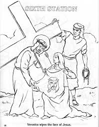 stations of the cross coloring page kids coloring