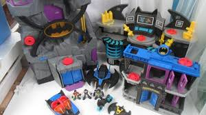 imaginext batmobile with lights imaginext batcaves gotham jail light up batmobile missiles figures