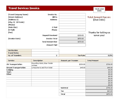 travel invoices tax invoice format invoice format template 30