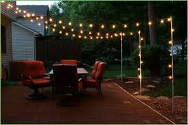 Backyard Light Post by Diy Backyard String Lights Diy Outdoor String Lightsbright July