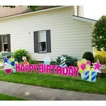 Birthday Lawn Decorations Custom Yard Signs Birthday U0026 Party Yard Signs Shindigz