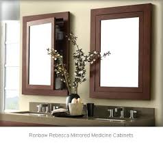 lighted medicine cabinet mirror ronbow medicine cabinet ronbow bathroom vanity set in black with