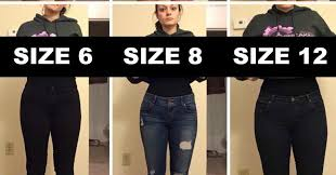 what youve always wanted to know about fashion woman poses in varying pants sizes to make a point about body