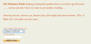 wedding fund registry create a wedding website registry using dwolla buttons