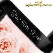 custom sash custom sash with diamante text