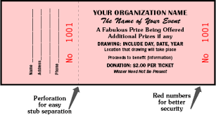 sample tickets for fundraisers template examples