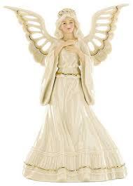 christmas tree angel lenox collectible figurine adoring angel tree topper home decor