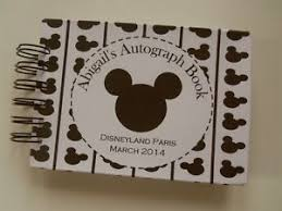 personalized autograph books personalised disney autograph book mickey mouse or