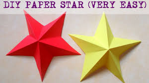 Star Home Decorations by Diy Paper Crafts How To Make A Paper Star 3d In Less Than 5