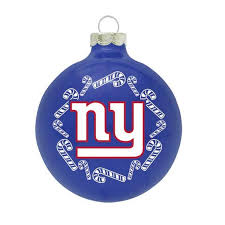 nfl new york giants traditional glass ornament pro football