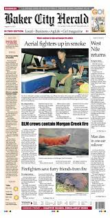 Elgin Oregon Wildfire by Baker City Herald Daily Paper 08 19 15 By Northeast Oregon News