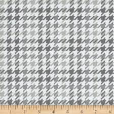 cozy cotton flannel houndstooth grey discount designer fabric